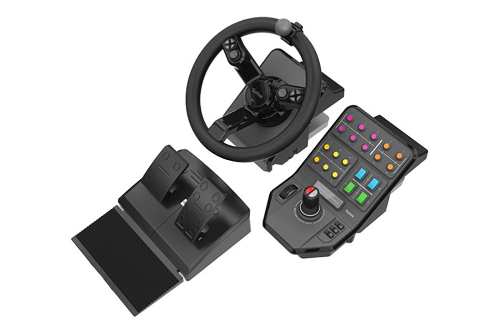 Logitech - Saitek Farming Simulator Wheel, Pedals, und Vehicle Side Panel Bundle