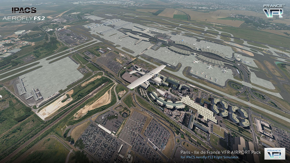 Paris-Ile de France VFR Airport Pack for Aerofly FS 2