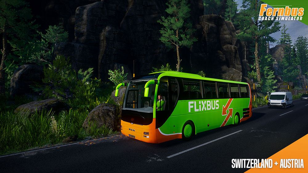 Fernbus Simulator Add-on - Austria/Switzerland