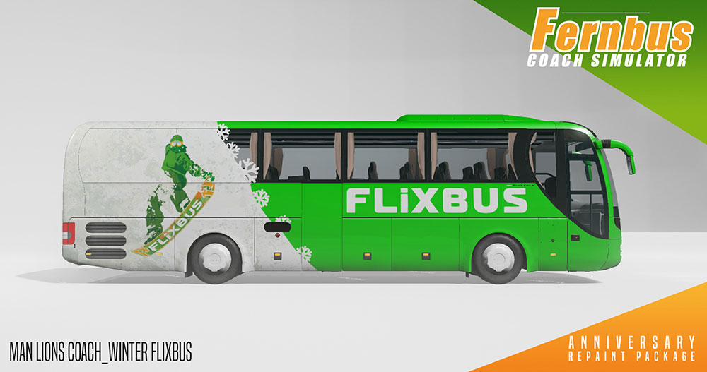 Fernbus Coach Simulator Add-on - Anniversary Repaint Package