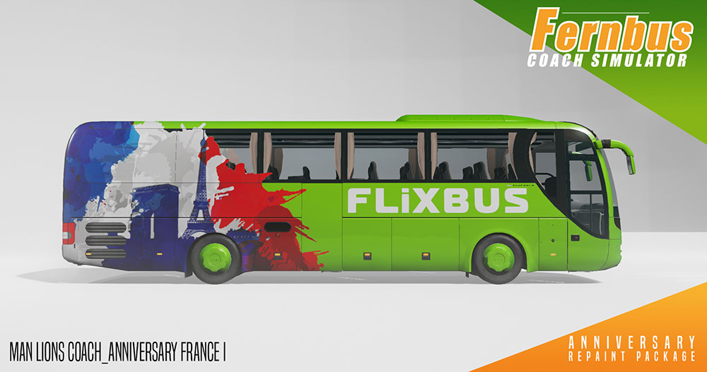 Fernbus Simulator Add-on - Jubiläums Repaint Package