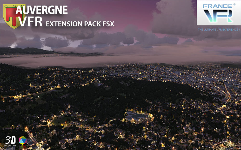 Auvergne VFR - Extension Pack FSX