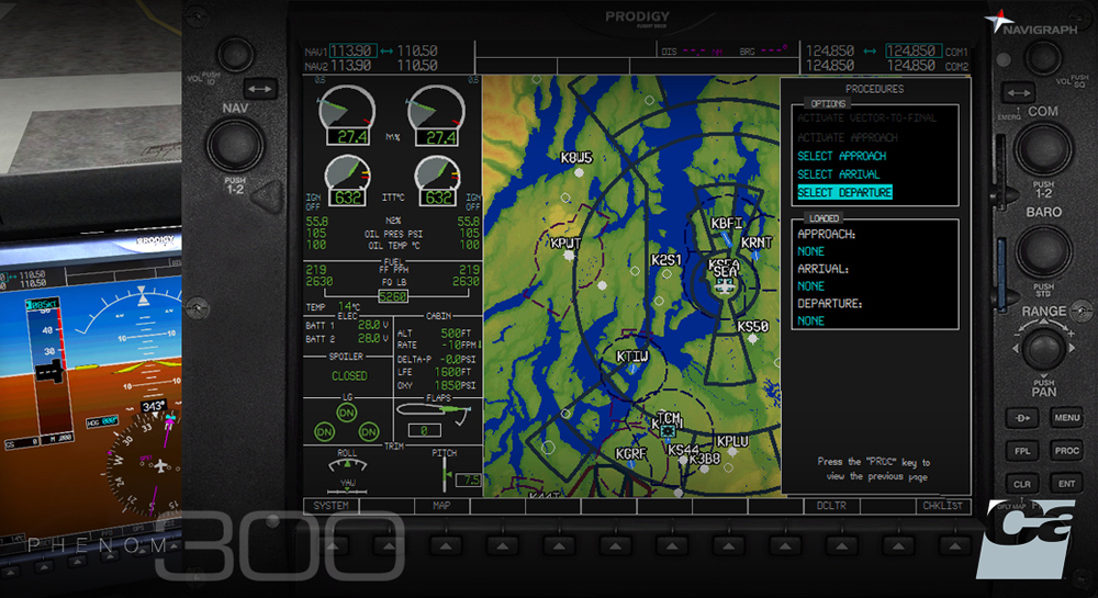 Carenado - Navigraph EMB505 Phenom 300 - Extension Pack