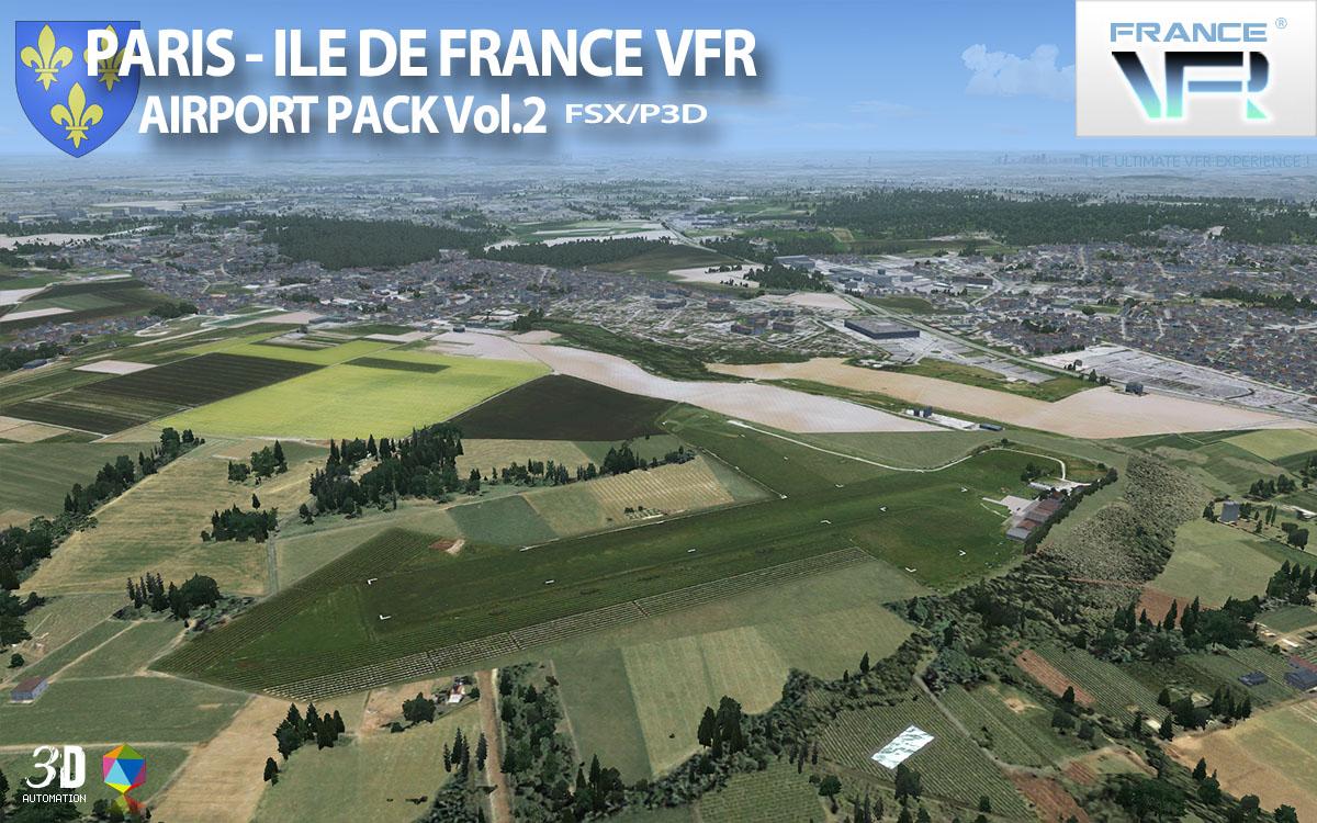 Paris ile de france vfr airport pack vol 2 aerosoft shop for Terrain constructible ile de france