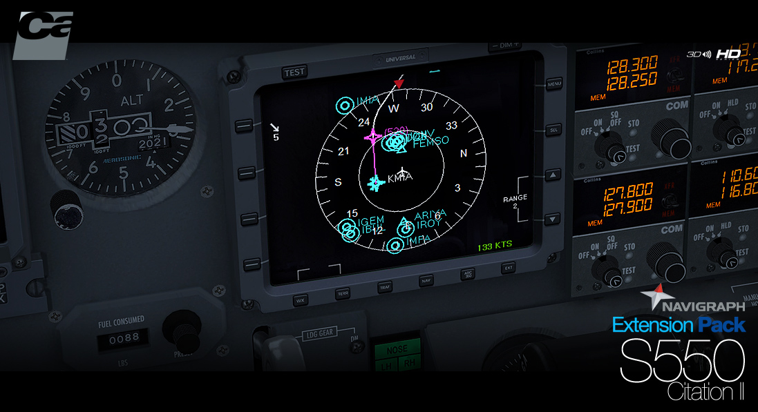Carenado - Navigraph S550 Citation - Extension Pack