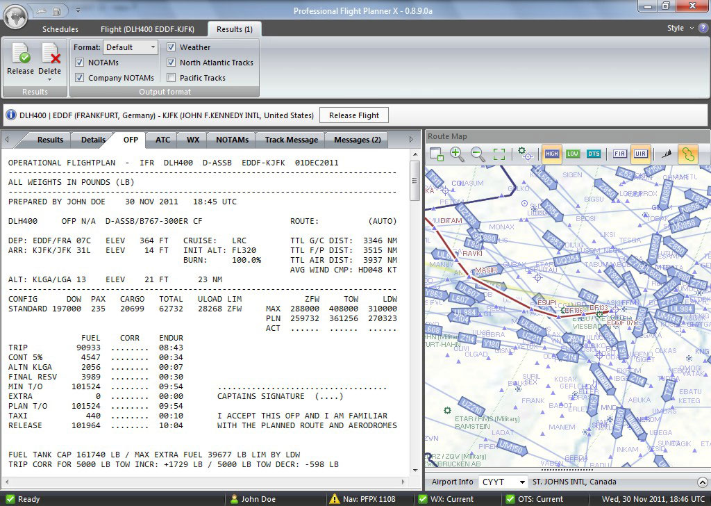 Professional Flight Planner X