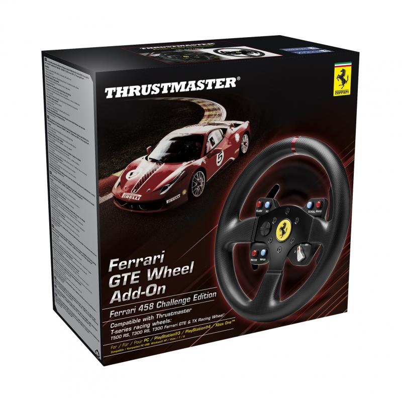 Thrustmaster - Ferrari GTE Wheel Add-On 458 Challenge Edition