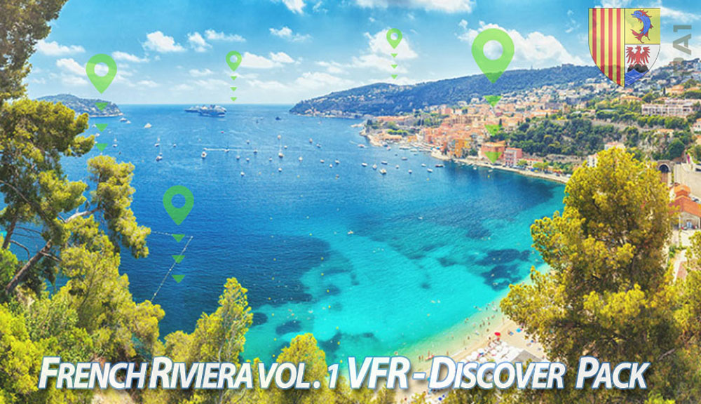 French Riviera VFR Vol. 1 - Discover Pack P3D