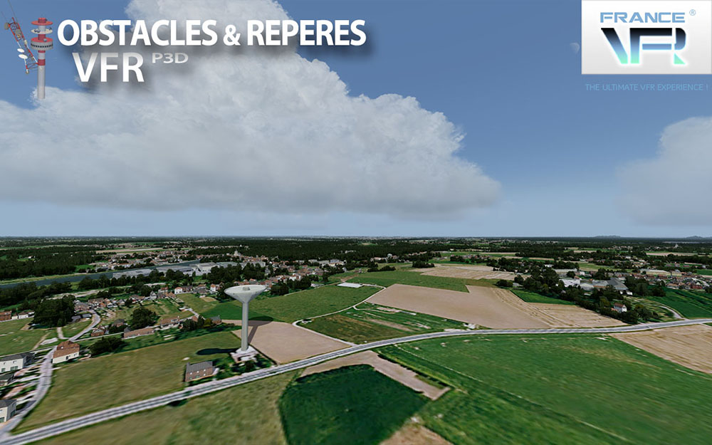 Obstacles & repères VFR v3 - FRANCE P3D V4