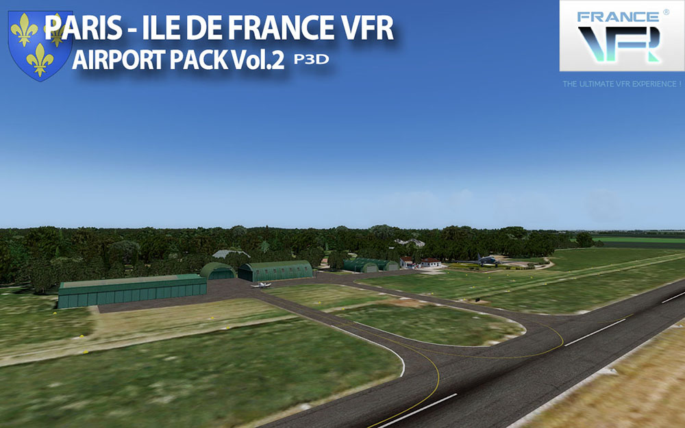 Paris-Ile de France VFR - Airport Pack Vol. 2 - P3D V4