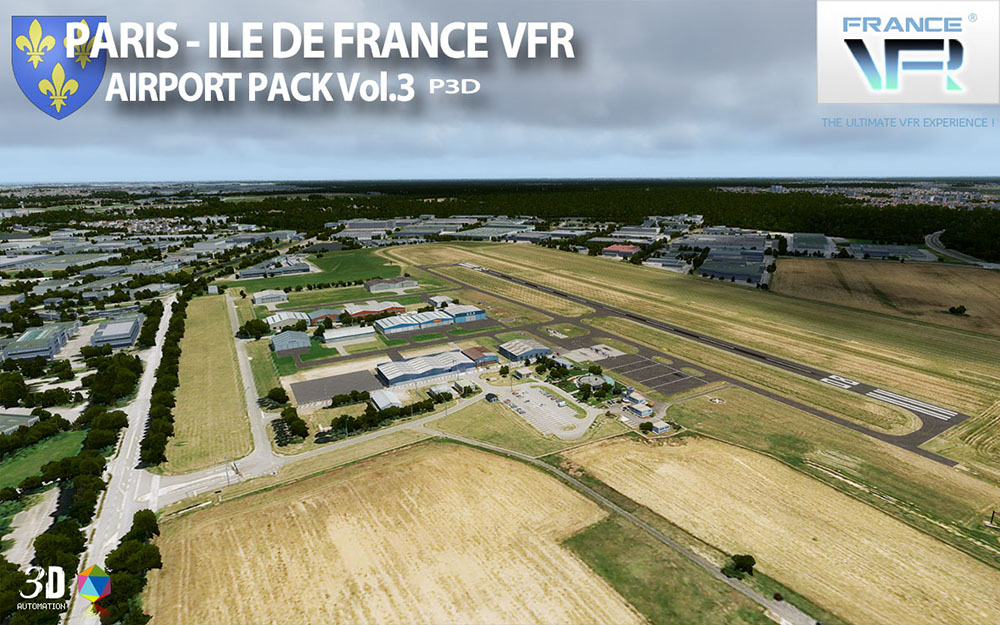 Paris-Ile de France VFR - Airport Pack Vol. 3 - P3D V4
