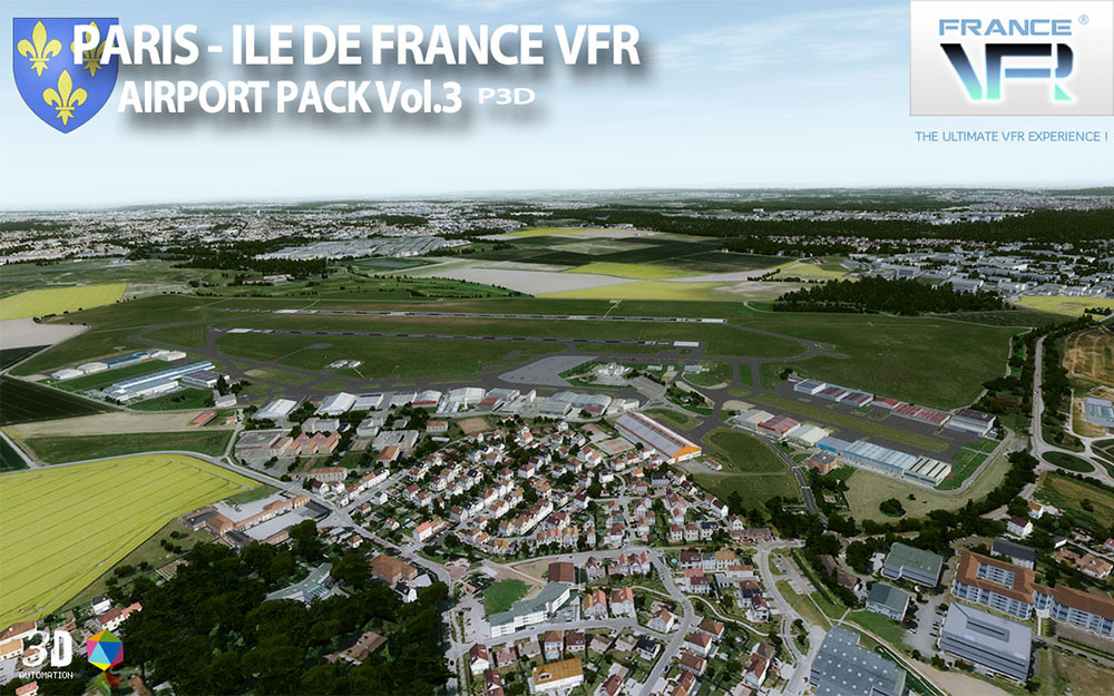 Paris-Ile de France VFR - Airport Pack Vol. 3 - P3D V4/V5
