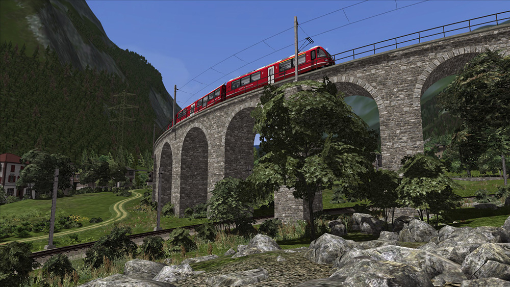 Bernina Line: Poschiavo to Tirano Route