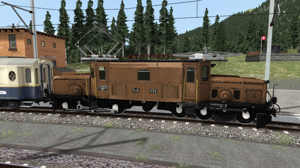 RhB Crocodile Ge 6/6 I Train