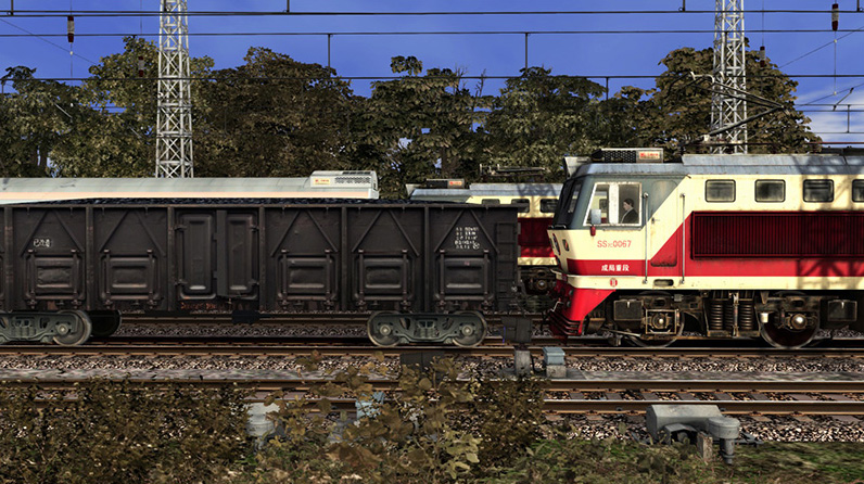 China Railways SS7C Electric Locomotive