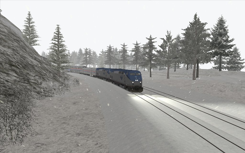 California Zephyr crossing Donner Pass