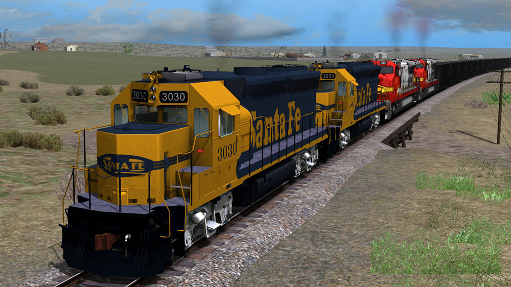 EMD GP40X ATSF Locomotive