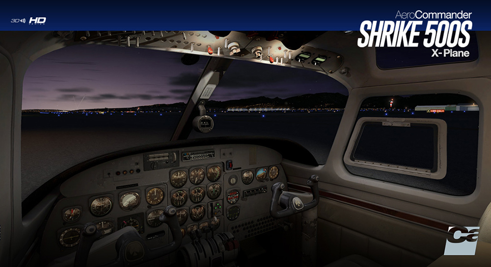Carenado - 500S Shrike Aero Commander - HD Series (XP)