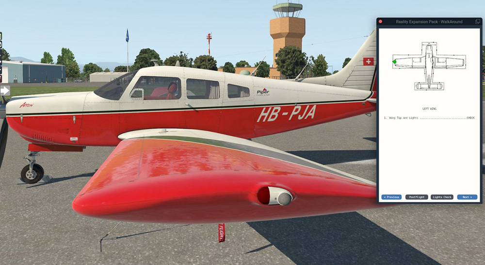 Reality Expansion Pack für Just Flight PA-28R Arrow III